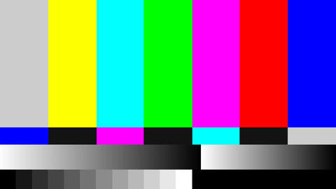 TV signal pattern for test purposes Live Action