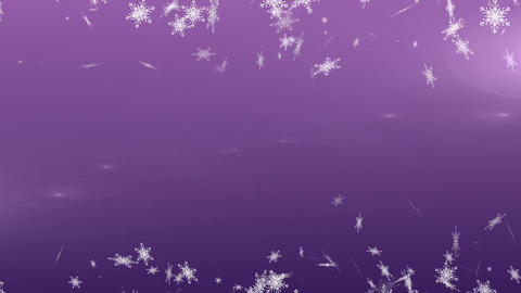 Snowflakes falling against violet background Live Action