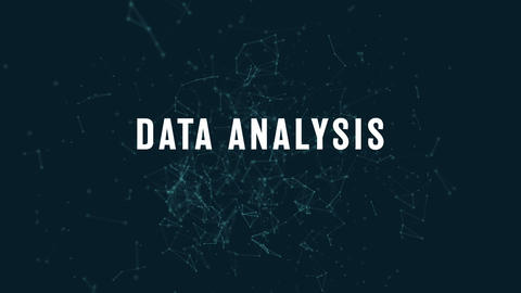 Data analysis with polygonal connecting dots and lines 4k Footage