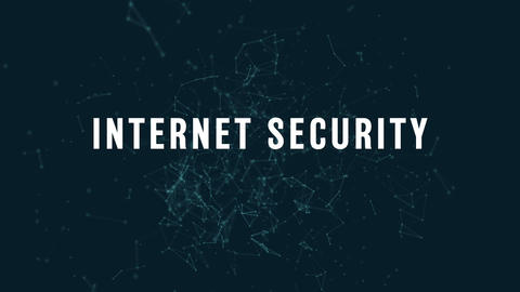 Internet security with polygonal connecting dots and lines 4k Live Action