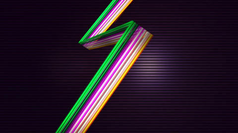 Elegant colorful lines against lined background 4k Footage