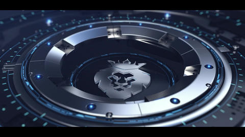 Metal Technology logo After Effects Template