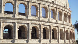 Famous Italian attraction Colosseum in Rome. Ancient amphitheater Coliseum in Footage