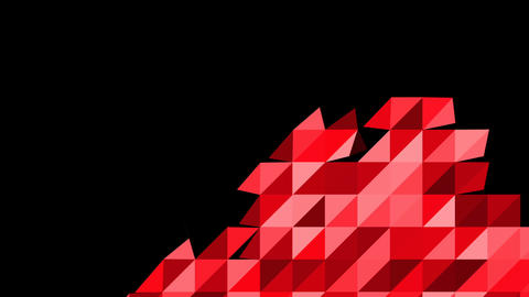 Abstract background loop of triangles in a geometric pattern Animation