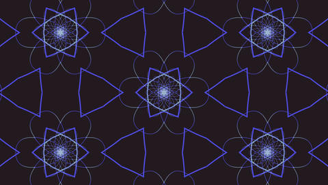 Blue-black abstract kaleidoscope background. Abstract Stock Video Footage