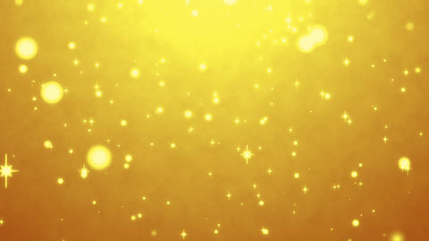 cute yellow particles abstract background CG動画