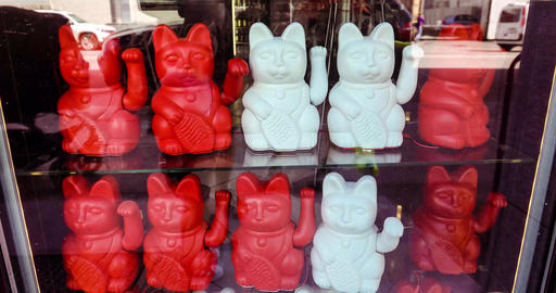 Maneki neko also known as chinese fortune cat Live Action