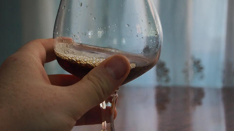 Wine tasting in a glass Live Action