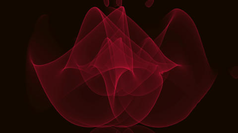 Abstract vfx video, red fractal curves, tunnel motion on black background Animation