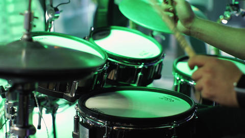 Close up Man playing drums GIF