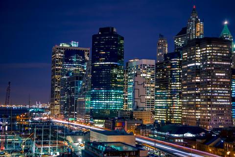 Nightlife on the Quay of Manhattan Photo