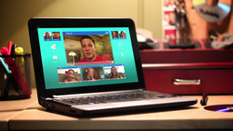 4K Video Chatting on a Laptop Footage