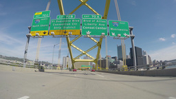 4K Welcome to Pittsburgh Fort Pitt Bridge Footage