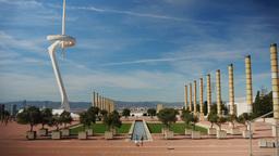 4K Olympic Park Establishing Shot in Barcelona Footage
