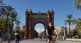 4K Arc de Triomf in Barcelona Footage