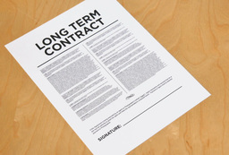Man Signs Long Term Contract Footage