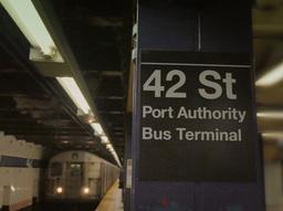 Manhattan Subway Station 42nd Street Footage