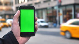 4K Green Screen iPhone in Manhattan Footage