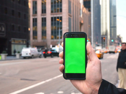 Green Screen iPhone Manhattan Traffic Footage