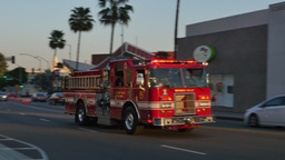 Beverly Hills Fire Truck in Action Footage