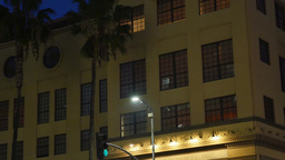Nighttime Store or Apartment Building Establishing Shot Footage