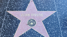 Joan Rivers Star on the Walk of Fame Footage