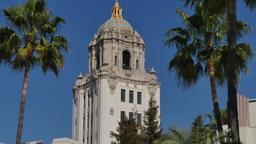 Beverly Hills City Hall Establishing Shot Footage