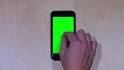 Overhead Green Screen Smartphone Demonstration stock footage