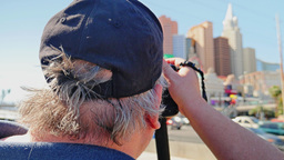 Man Takes Picture of Las Vegas Strip Footage