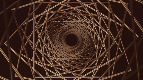 Gold Spiral Background CG動画素材