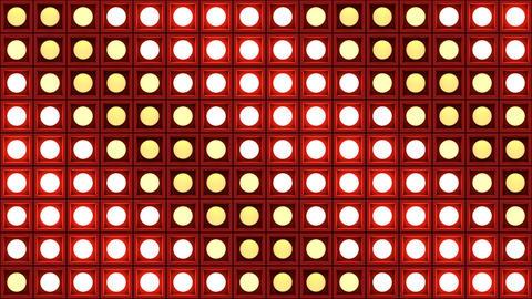 Lights flashing wall bulbs pattern static diagonal red stage background vj loop GIF