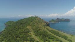 Lighthouse in cape engano . Philippines, Palau island Footage