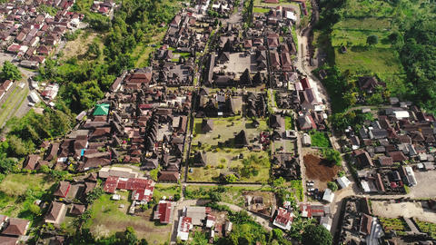 Aerial view by drone 4k camera of Besakih Temple Footage