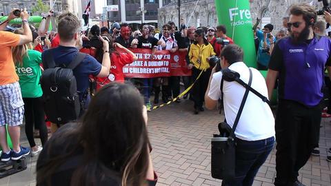 First zombie horde - the front of Birmingham Zombie Walk ビデオ