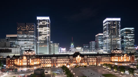 Timelapse - Twilight time view of Tokyo FIX GIF