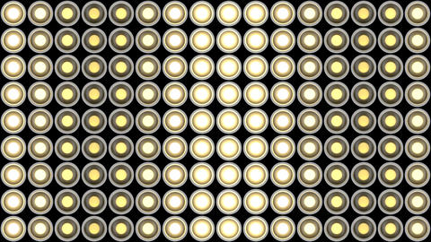 Lights flashing wall bulbs pattern static vertical white stage background vj Animation