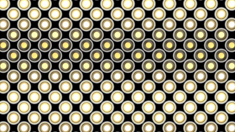 Lights flashing wall bulbs rhombus pattern static flash…, Stock Animation