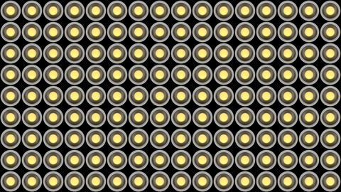 Lights flashing wall bulbs pattern vertical rotation stage white background vj Animation