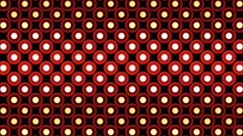 Lights flashing wall bulbs round pattern static flash up... Stock Video Footage