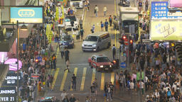 4k video of pedestrians in a busy street in Hong Kong Footage