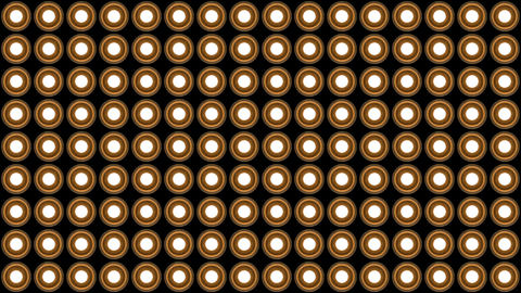 Lights flashing wall round bulbs pattern vertical rotation stage wood background Animation