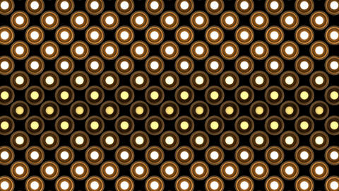 Lights flashing wall bulbs round pattern static flash up stage wood background Animation