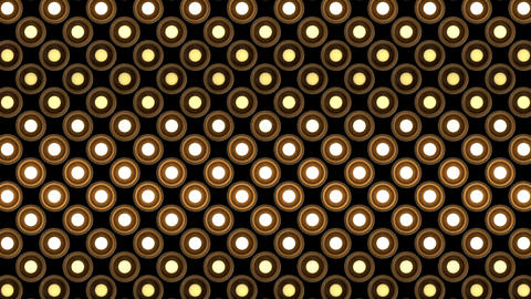 Lights flashing wall bulbs round pattern static flash up… Stock Video Footage