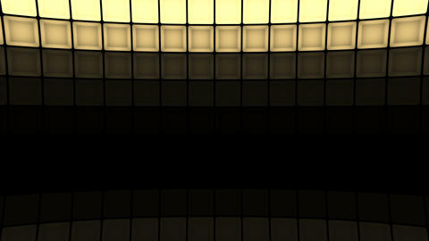 Lights flashing wall cubes bulbs pattern static... Stock Video Footage