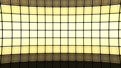 Lights flashing wall cubes bulbs pattern static horizontal stage background vj Animation