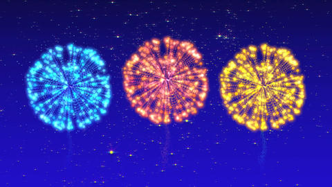 Fireworks CG Summer festival Animation