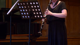 Musician plays clarinet Footage
