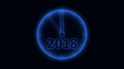 The clock 2019 2 Animation