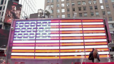America flag usa neon sign light Footage