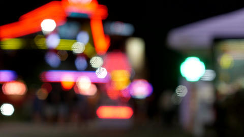 Glittering cityscape - blurred defocused concept footage of urban downtown scene GIF